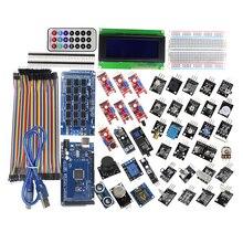 MEGA 2560 R3 Starter Kit with 40 Sensor Module Serial I2C LCD Display Gas Detector Sound Sensor for arduino Diy Kit