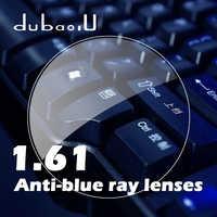 1.61 ดัชนีป้องกันฟ้าเรย์เลนส์ Aspherical คอมพิวเตอร์มืออาชีพเลนส์ป้องกันรังสีสายตาสั้นสายตายาว Len