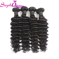 Soph Queen Hair Malaysian Hair Deep Wave Bundles Unprocessed Virgin Human Hair Bundles Can Buy With Closure Natural Color