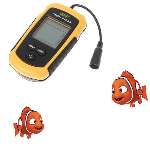 ФОТО Portable Fish Finder Waterproof Fishing Camera Depth 100M Sonar Fish Finder Sensor Sounder Alarm Fishing Tackle Tools