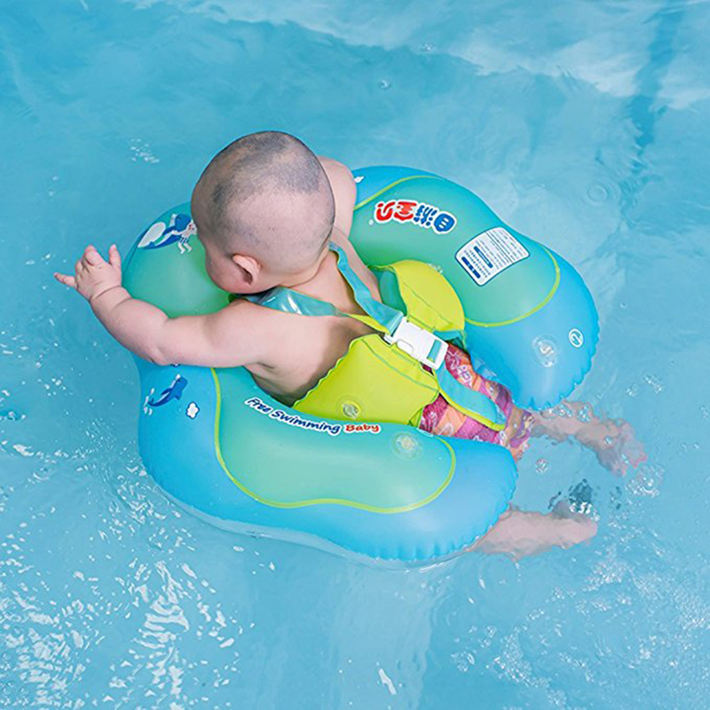Quality Swimming Pool Inflatable Ring Baby Swim Float Wheels Double Person Swimming Circle Inflatable Ring Newborns Bathing Circles Superior In