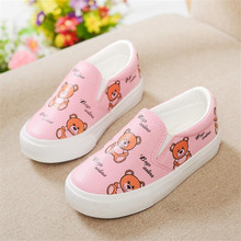 Children's leather shoes boys casual shoes 2017 spring new baby girls flat princess cartoon shoes kids fashion sneakers