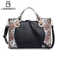 LIANGBOYI Fashion Serpentine Shoulder Messenger Bags Female Tote Luxury Bags Handbags Women Famous Brands Designer Crossbody Bag