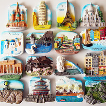 (6 pieces / lot)Travel souvenirs around the world  fridge magnets