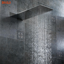 BECOLA bathroom shower nozzle pressure Into the wall concealed head Ultra thin stainless steel