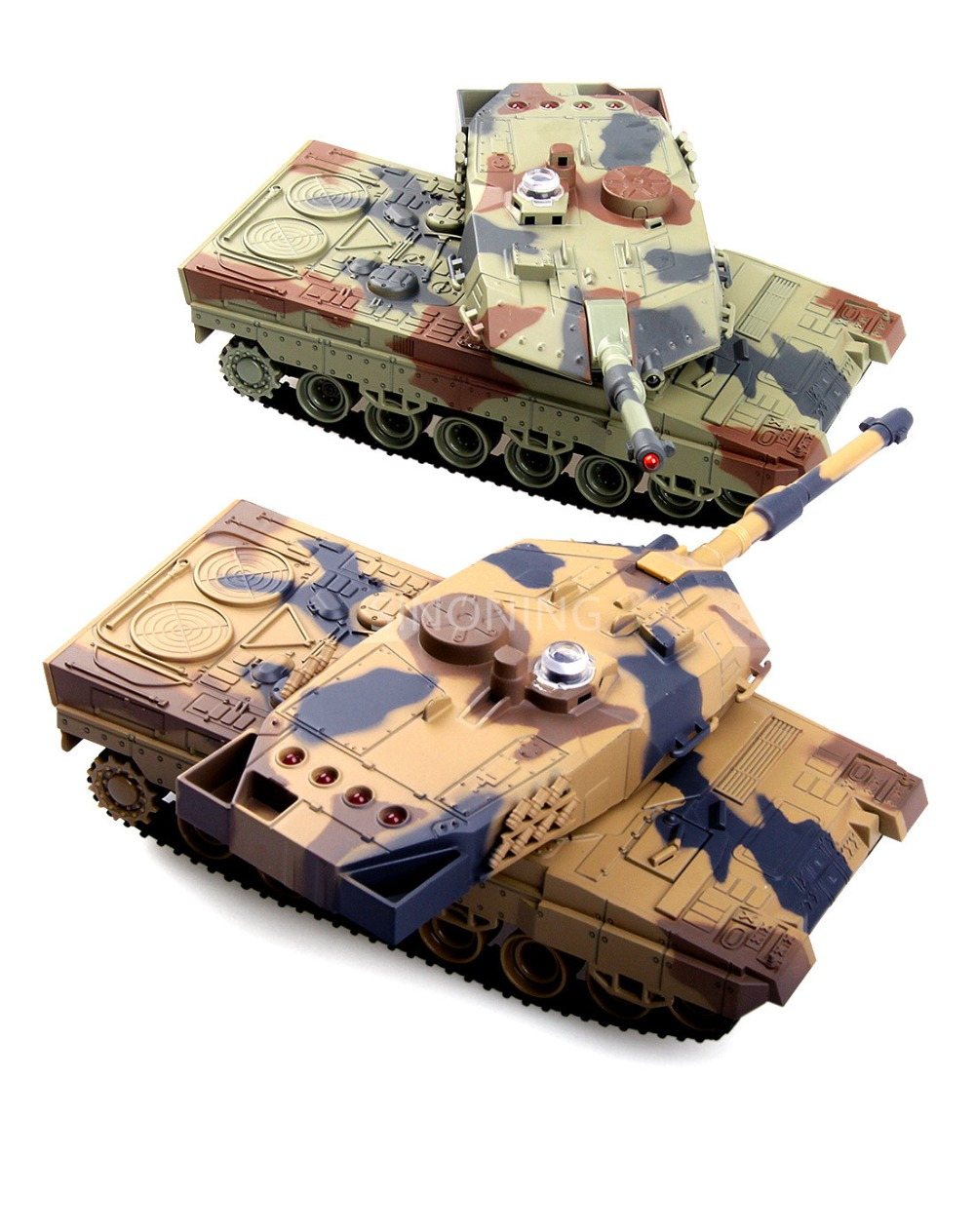 A Pairtwo Tank 24G Battle Rechargeable Battery RC Russia Tanks Gift