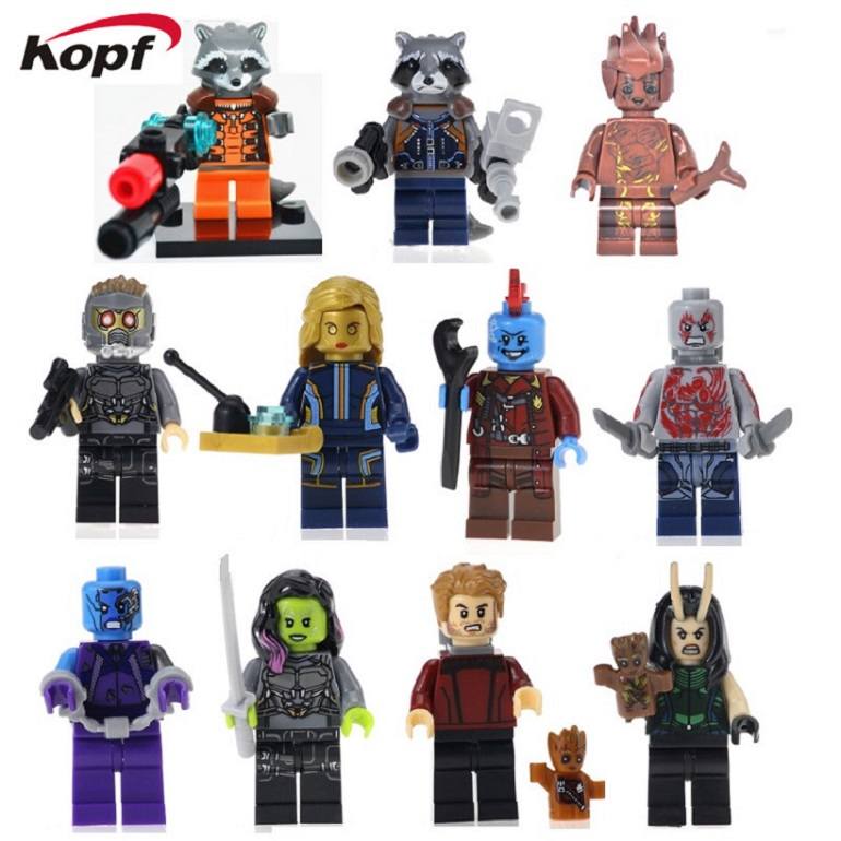 Single Sale Guardians of the Galaxy Drax the Destroyer Nebula Yondu Peter Quill Star Lord Building Blocks Children Gift Toys