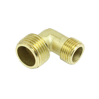 Air Compressor Fittings Brass 3/8 x 1/2 Male Thread Elbow m m 13mm to 9mm male thread air compressor inline manual valve