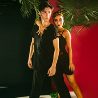 Men'S Latin Dance Tops Short Sleeves Shirt Latin / Cha Cha / Rumba / Samba Standard Ballroom Dancing Practice Clothes DQS1394