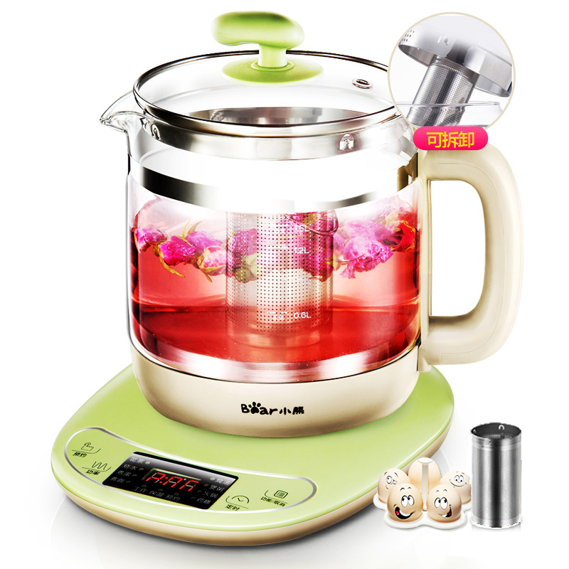 Bear YSH-B18T1 Health Pot Fully Automatic Thicker Glass Multifunction Tea Maker Electric Teapot Flower Pots Home Intelligent bear health preserving pot full automatic electric kettle glass tea pot kettle multifunctional tea ysh a18u2