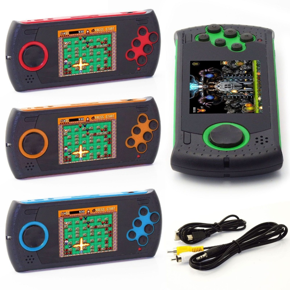 2.8 Inch Gaming Console Built-in Genesis Megadrive Sega Games Portable Handheld Digital Pocket Console Games Many Classic Games ...