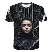 2019 Newest T-shirt Game of Thrones tshirt Song of Ice and Fire T-shirt 3d Print T-shirt Iron Throne Tshirt Summer Shirt Cosplay мужская футболка t shirt t tshirt 2015