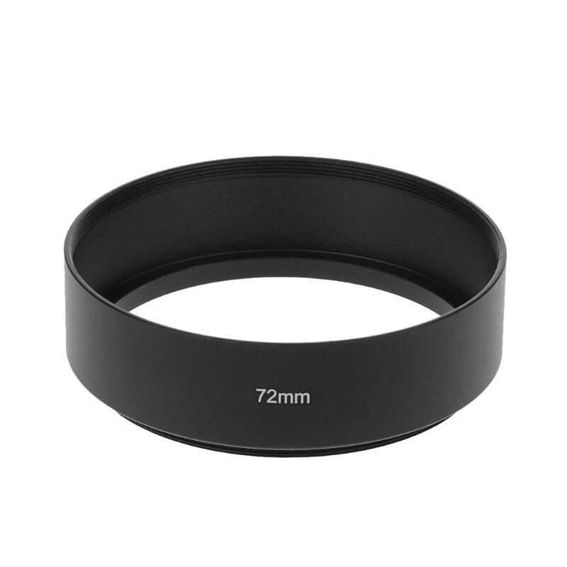 49MM/52MM/55MM/58MM/62MM/67MM/72MM/77MM Metal Universal Long Focus Lens Hood Screw-In Mount For Canon DSLR SLR Camera