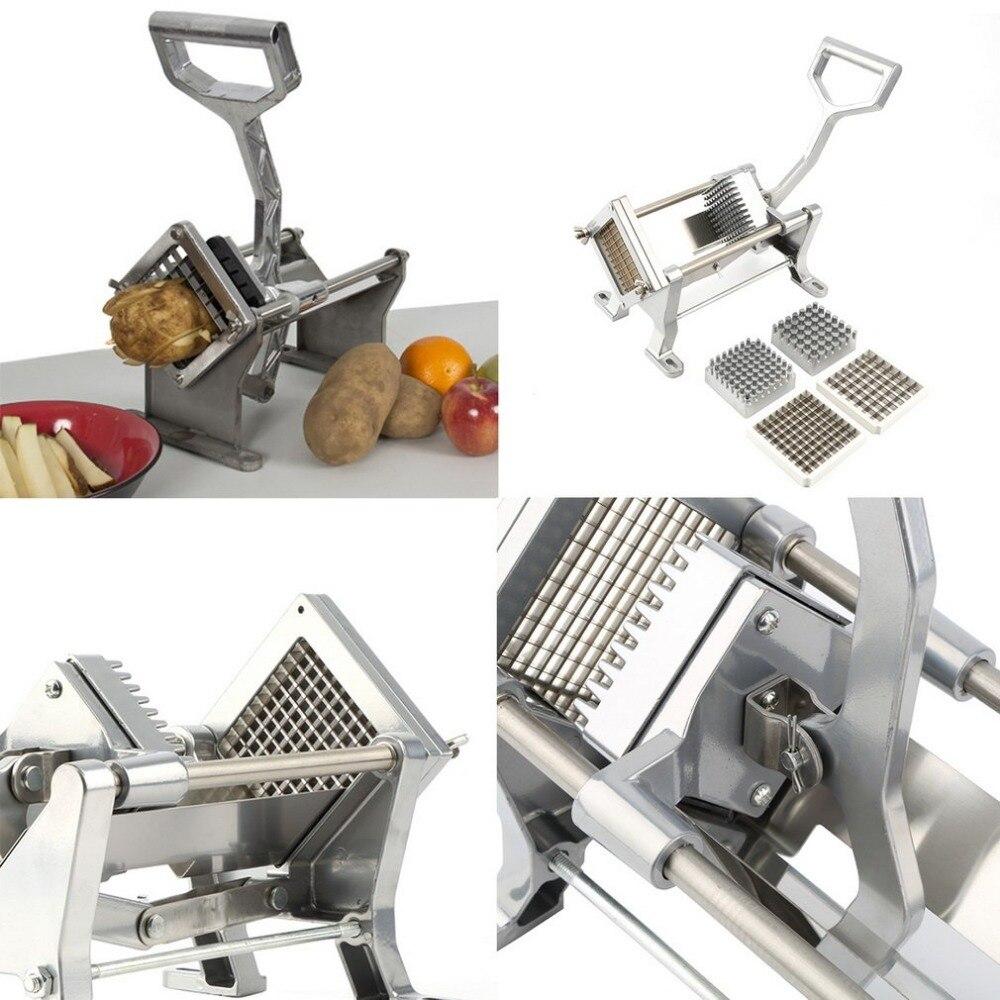 Di patate Francese Frittura Frutta Verdura Cutter Affettatrice Casa A Mano In Acciaio Inox e Alluminio Trinciatrici & Affettatrici - 2