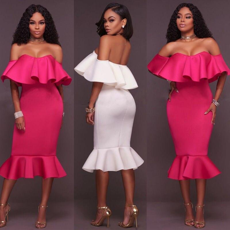 Летние женские бандажные платья с оборками, короткие рукава, Русалка, Bodycon, вечернее платье, белая роза