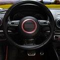 Volante círculo decorativo lentejuelas brillante interior reinstala pegatinas para audi A1 A3 S3 A4 A5 S5 S7 A7 Q3 Q5 TT car styling