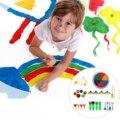 29 stücke Mini Malerei Schaum Schwamm Pinsel Werkzeuge mit Druck Inkpad für Kinder Kinder Kindergarten Graffiti DIY Malerei-in Kunst-Sets aus Büro- und Schulmaterial bei