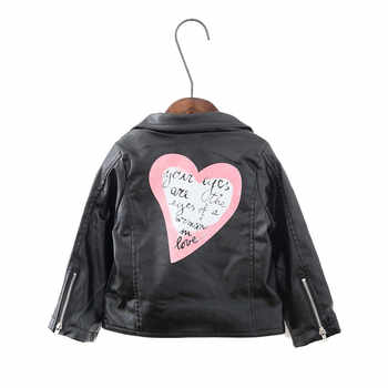 ARLONEET Autumn Kids Leather Jacket Girls PU Jacket Children Leather Outwear For Girl Baby Girl Jackets and Coats Boys CO16