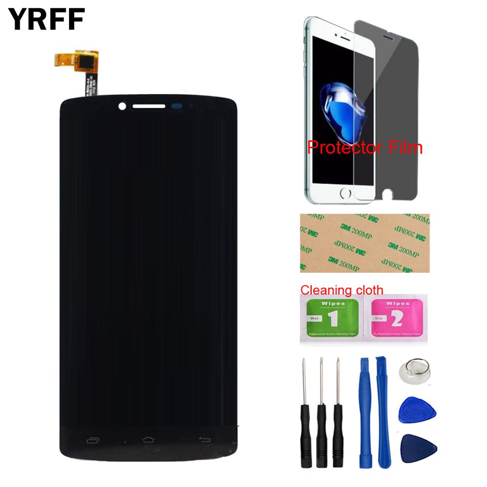 LCD Display Touch Screen Digitizer Assembly For Prestigio MultiPhone PAP5550 PAP 5550 DUO LCD Display Free Tools Protecotr Film