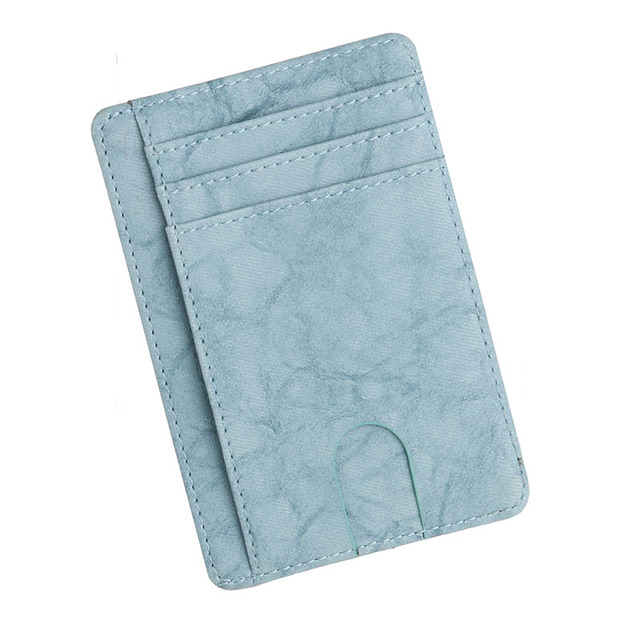 Porte Carte De Visite Bleu Pour Homme En Fossil