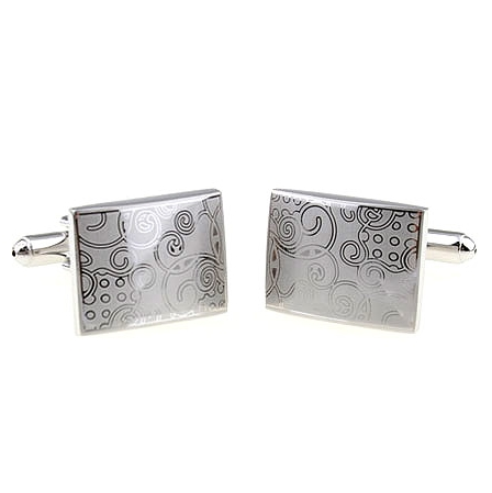 Metal pattern laser Cufflinks French shirt Cufflinks boys free shipping