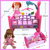 Baby Girls Large Play Toys Princess Girl Toys Hammock Bed Simulation Dolls Bed Pretend Play Furniture