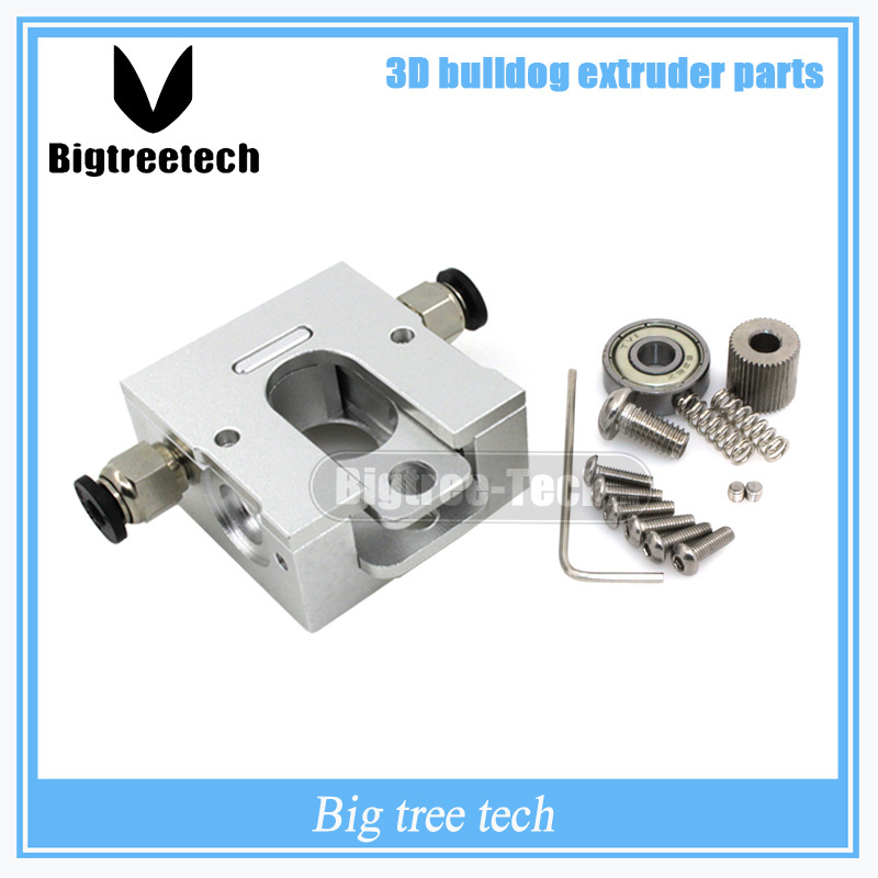 DIY Reprap Bulldog All-metal Extruder For 1.75 3mm Compatible With 3D J-head MK8 Remotely Proximity For 3D Printer Parts