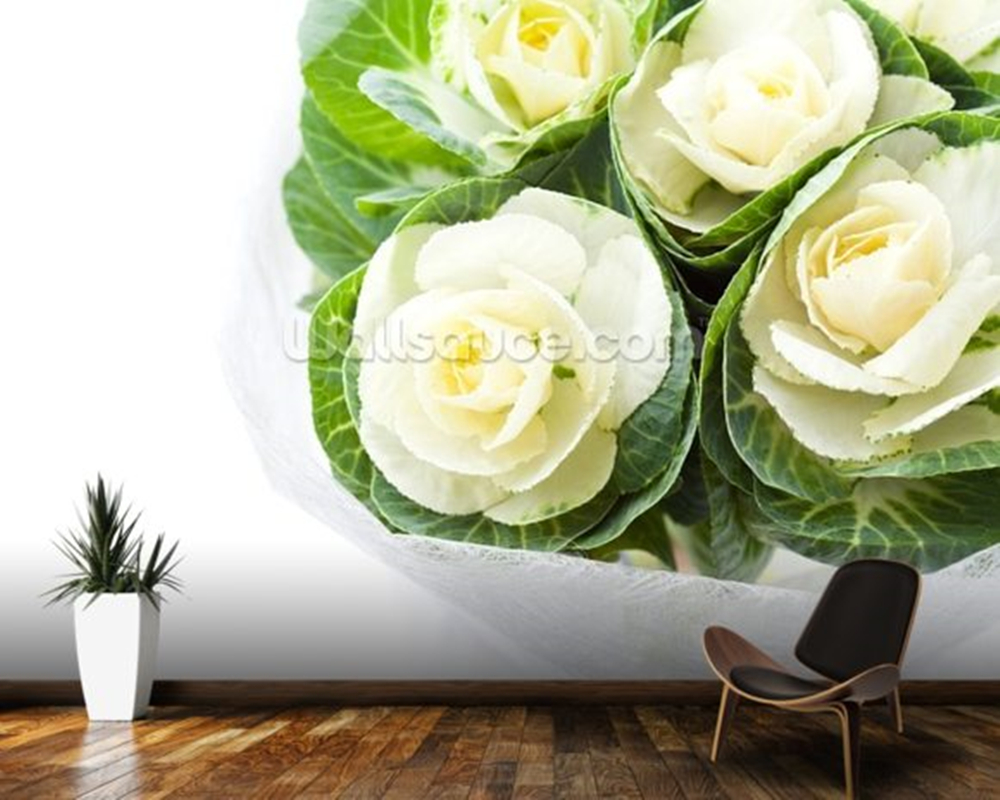Custom wallpaper wallpaper, Cabbage Flowers,retro murals for living room bedroom sofa background wall home decoration wallpaper