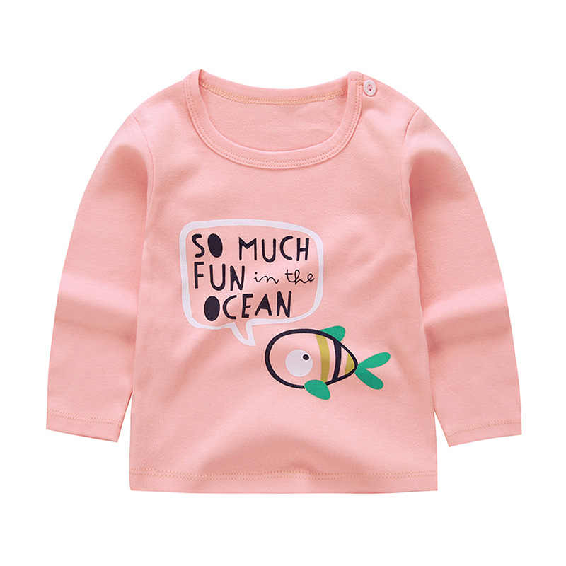 Spring Boys Girls Clothes Kids Long Sleeve Cotton T Shirts For