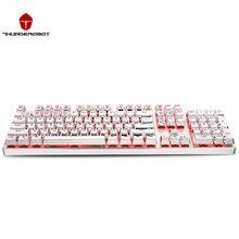 ThundeRobot Weiß K75C 104 Schlüssel Mechanische Tastatur Cyan schalter Mehrere Farben Hintergrundbeleuchtung Gaming-tastatur Wasserdicht