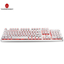 ThundeRobot White K75C 104 Keys Mechanical Keyboard Cyan switch Multiple Colors Backlight Gaming Keyboard Waterproof