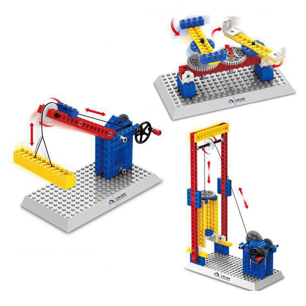 Probado Compatible con Lego, engranaje mecánico Technic bloques de construcción de ingeniería de los niños Ciencia Educativa vástago juguetes, 3 en 1