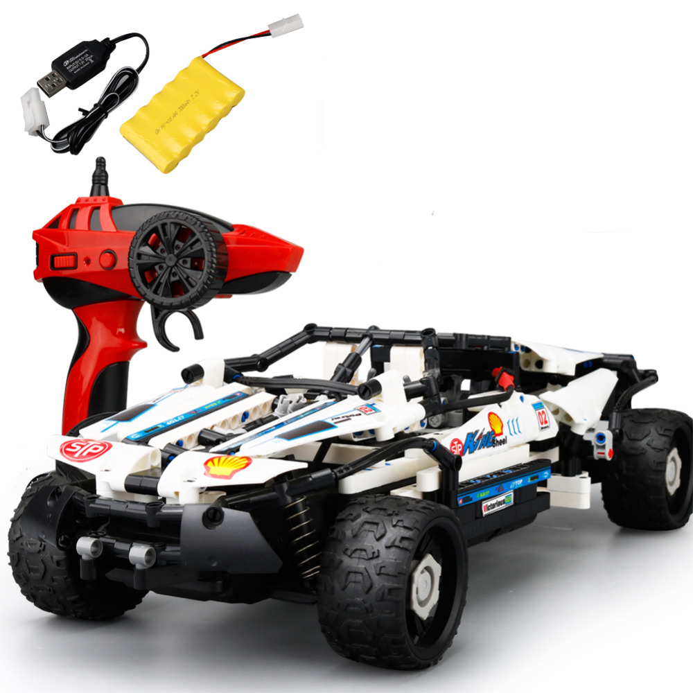 RC Cars Model Toy SDL 2017A-9 2.4Ghz USB Charging Building Block DIY RC Cars Remote Control Cross Country Model Vehicle Toy Kids