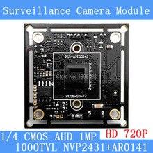 720P AHD 1000TVL1Megapixel board camera module cctv camera PCB,1/4″ AR0141 CMOS + NVP2431H,Low 0.001lux