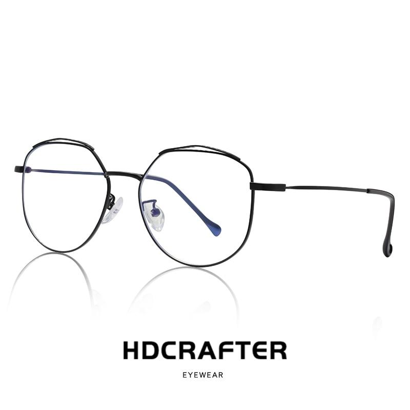 2019 New Anti Blue Ray Woman Glasses Optical Frames Metal Round Glasses Frame Clear lens Eyeware Black Silver Gold Eye Glass