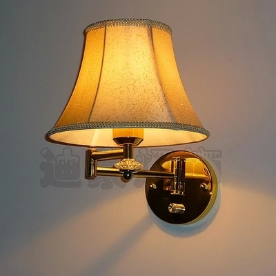 Free Shipping Modern Minimalist Creative Dimmable Lamp Arm Gold Bedroom Wall Mount With Switch