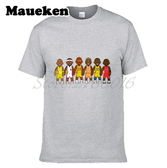 11a817a7439a Men Legends Michael Jordan Lebron James Kobe Bryant Magic Johnson Shaquille  o  Neal Abdul Jabbar Basketballing T-shirt W0522003