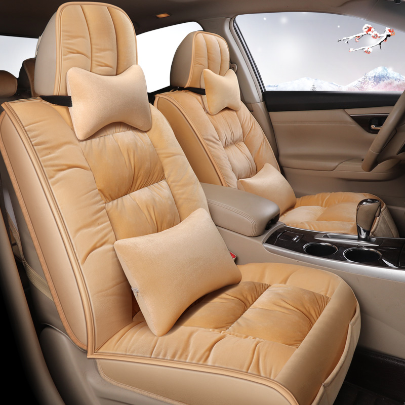 keep warm in winter Universal Flocking Cloth Car Seat Cover for auto skoda yeti opel insignia renault Interior Accessories Seatkeep warm in winter Universal Flocking Cloth Car Seat Cover for auto skoda yeti opel insignia renault Interior Accessories Seat