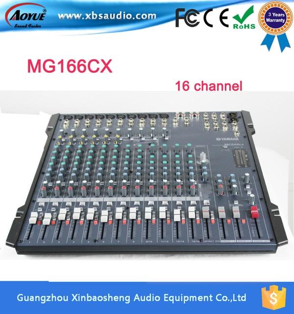 Микшер Yamaha Аудио MG166CX 16 канальный вход со Сжатием и Эффекты на сцене свадьбы 8 канала КТВ