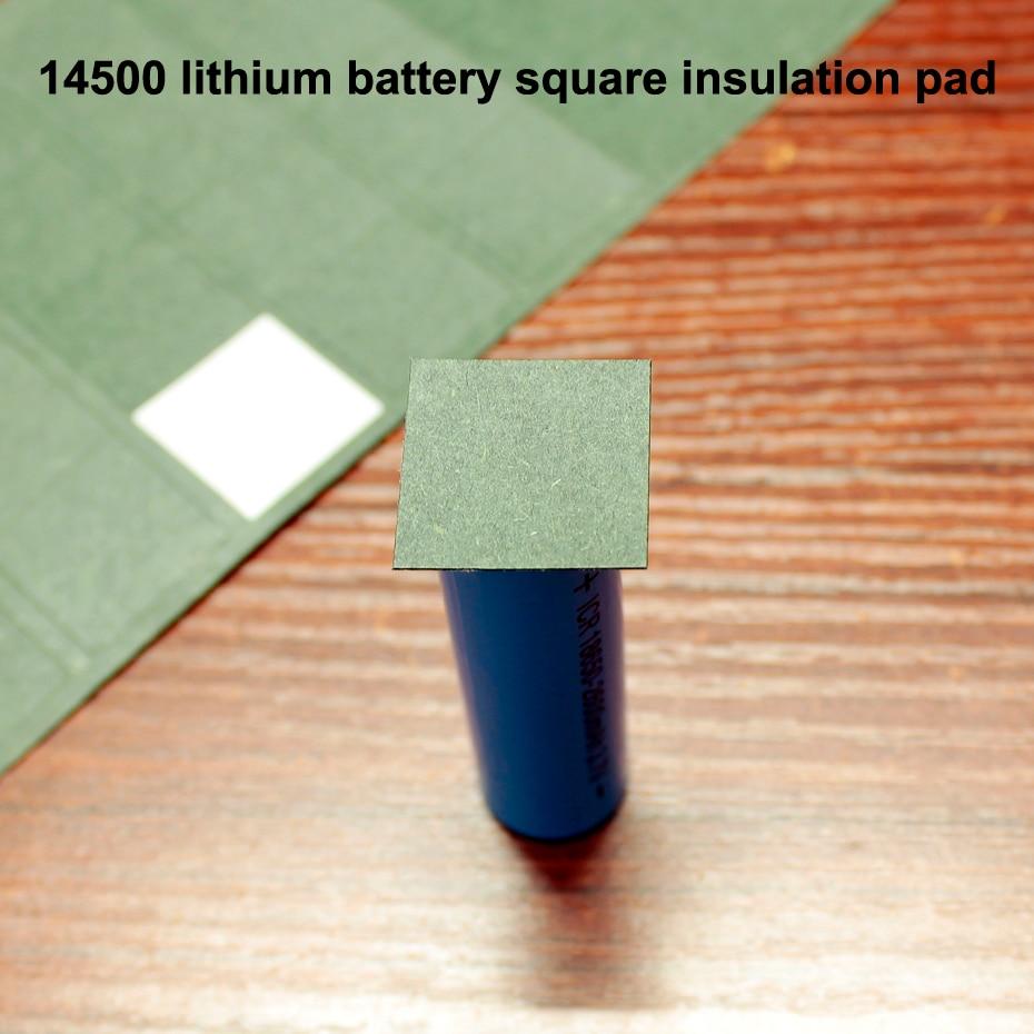 50 pçs/lote bateria De Lítio pacote de isolamento quadrado pad 14500 quadrado sólido pedaço de isolamento pacote papel cevada méson junta