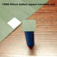 50 unids/lote Paquete de batería de litio almohadilla de aislamiento cuadrado 14500 pieza de aislamiento sólido paquete de mesón junta de papel de cebada