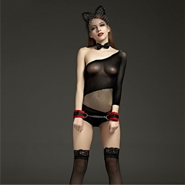 2019 Novelty & Special Use Internal Sexual Porn Mesh Lace Babydoll Dress Suit Open Crotch Lingerie Sexy Costumes Women Underwear 2