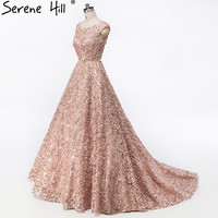 New Style Chapel Train Tulle Evening Dress Sleeveless Sexy Small Flowers Evening Gowns Robe De Soiree