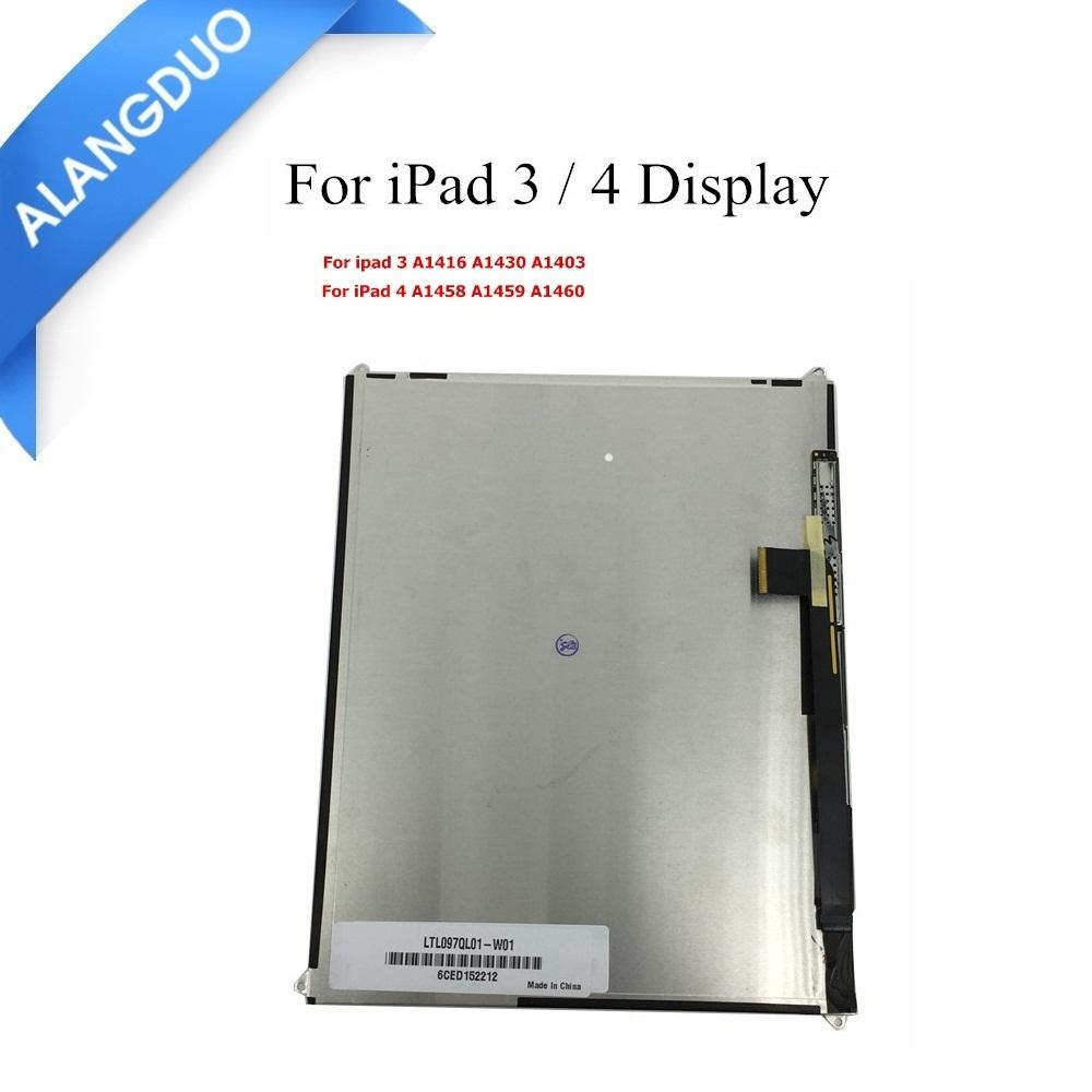 Prix pour ALANGDUO Pour Apple iPad 3 A1416 A1430 A1403 Retina LCD Affichage haute Qualité Pour iPad 4 A1458 A1459 A1460 LCD Écran Remplacement