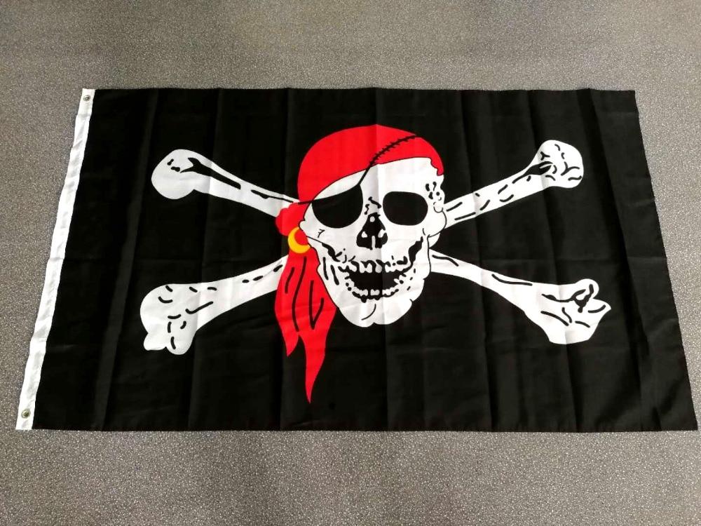 90 x 150 cm Flagge Totenkopf Biker Hell of a Ride