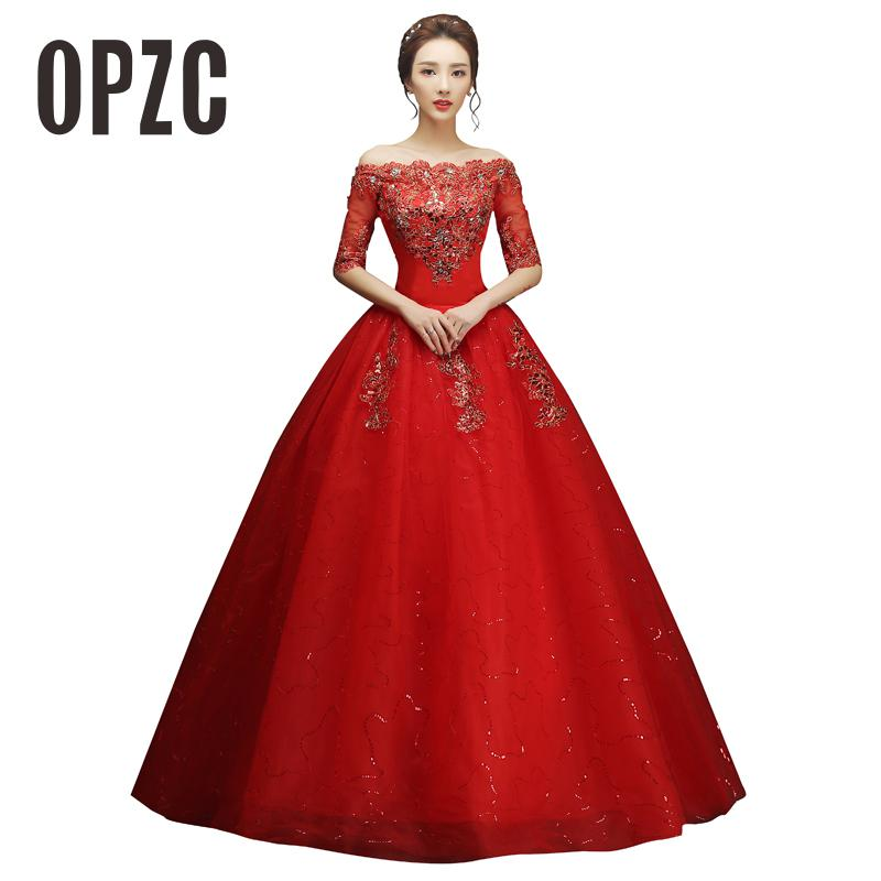 2 color Hot Sale Sexy Red 2016 New Arrival Boat Neck Half Red Lace Material Princess