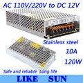High Quality LED switching power supply LED power supply 12V 10A 120W transformer 100-240V