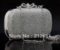 2016 Novo Chegada Bolso Lodo Wristlets Mini (<20 cm) Ranhura Interior Quente Estilo de Moldura Completa Diamante Evening Clutch Bag Bolsa Festa