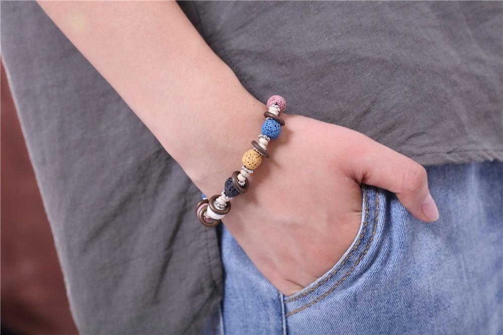 17 Lava Stone Beads Bracelet Beautiful Bangles Bracelets For Women Nature Stone Bracelet Strand Women Bracelets Jewelry Women 10