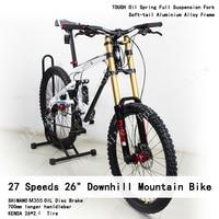 27 Speeds 26 Downhill Soft Tail Frame Full Suspension Fork OIL Disc Brake Bicicletas KENDA 2